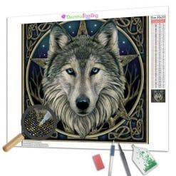 Diamond Painting – Sternbild des Wolfes