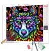 Diamond Painting – Regenbogenwolf