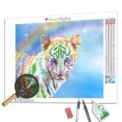 Diamond Painting – Regenbogen-Tiger