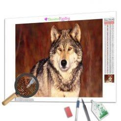 Diamond Painting – Wolf des Waldes
