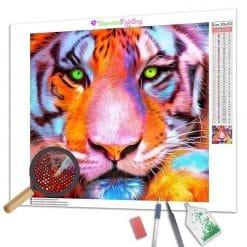 Diamond Painting – Grünäugiger Tiger