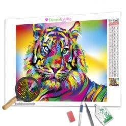Diamond Painting – Bunter Tiger
