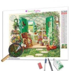 Diamond Painting – Gartenhaus
