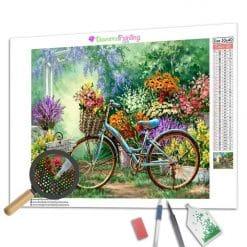 Diamond Painting – Fahrrad im Garten