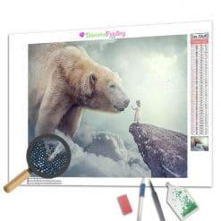 Diamond Painting – Riesiger weißer Bär