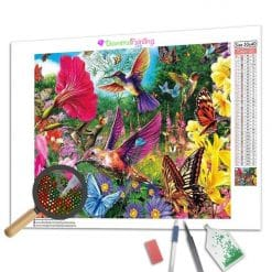 Diamond Painting – Kolibris und Schmetterlinge