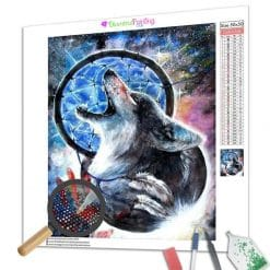 Diamond Painting – Kiba Der Wolf