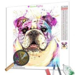 Diamond Painting – Bunte Bulldogge