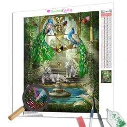 Diamond Painting – Pfau, Tiger, Vögel