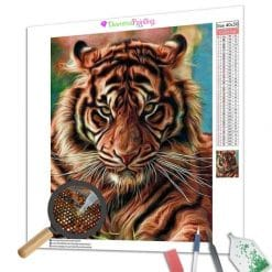 Diamond Painting – Wütender Tiger