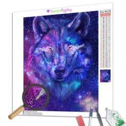 Diamond Painting – Wolf der Galaxie