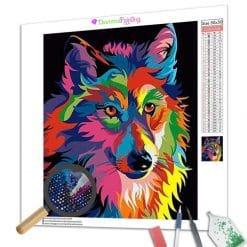 Diamond Painting – Bunter Wolf