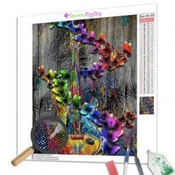 Diamond Painting – Schmetterlingsgitarre