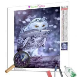 Diamond Painting – Schnee-Eule