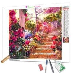 Diamond Painting – Die Blumen der Treppe