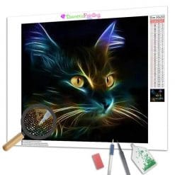 Diamond Painting – Abstrakte Katze