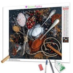 Diamond Painting – Kochen und Gewürze