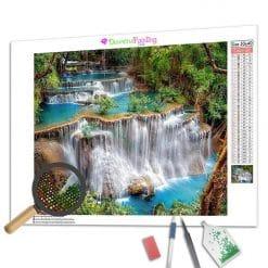 Diamond Painting – Tropischer Wasserfall