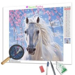 Diamond Painting – Weißes Pferd