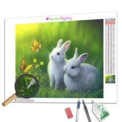 Diamond Painting – Kaninchen & Schmetterlin