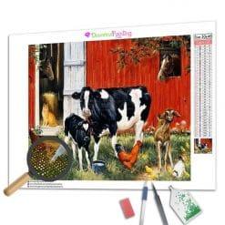 Diamond Painting – Die Kühe auf dem Bauernhof