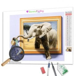 Diamond Painting – 3D-Elefant