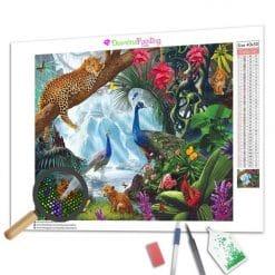 Diamond Painting – Der Dschungel-Wasserfall