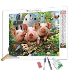 Diamond Painting – Die drei Schweinchen