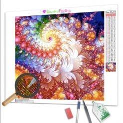 Diamond Painting – Abstrakte Blume