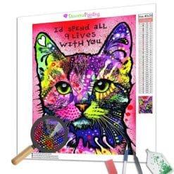 Diamond Painting – Bunte Katze