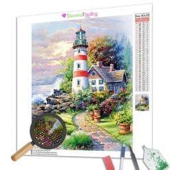 Diamond Painting – Das Haus und der Leuchtturm