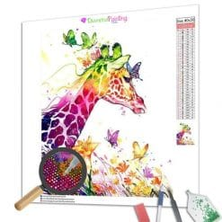 Diamond Painting – Farbige Giraffe