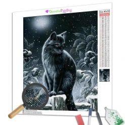 Diamond Painting – Nacht Katze