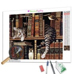 Diamond Painting – Die schlafende Katze