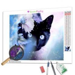 Diamond Painting – Schwarze Katze