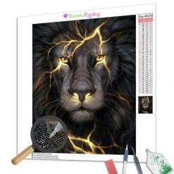 Diamond Painting – Leuchtender Löwe