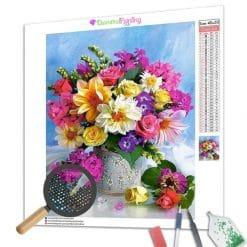 Diamond Painting – Bunte Blumen