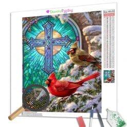 Diamond Painting – Weihnachts Glasfenster