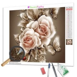 Diamond Painting – Goldene Rose
