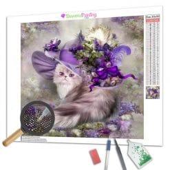 Diamond Painting – Katze und ihr Hut