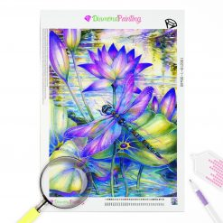 Diamond Painting – Libellen Lotus