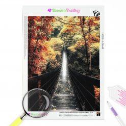 Diamond Painting – Herbst, Brücke