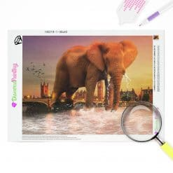 Diamond Painting – Ein Elefant in London